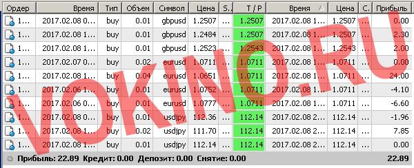 Сигналы рынка форекс по смс и email за 8 февраля 2017 от Vokino.Ru