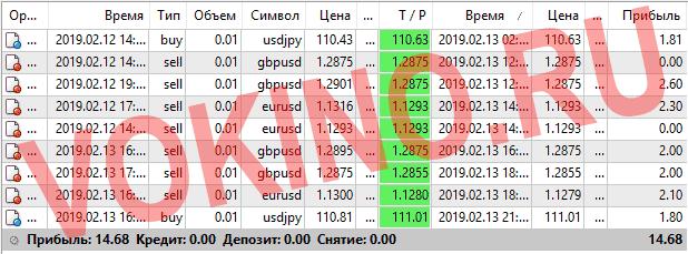 Прогнозы на валютные пары на каждый час за 13 февраля 2019 от Vokino.Ru